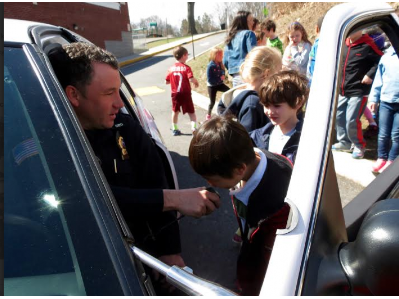 2nd graders learn the role of police officers ossining ny patch