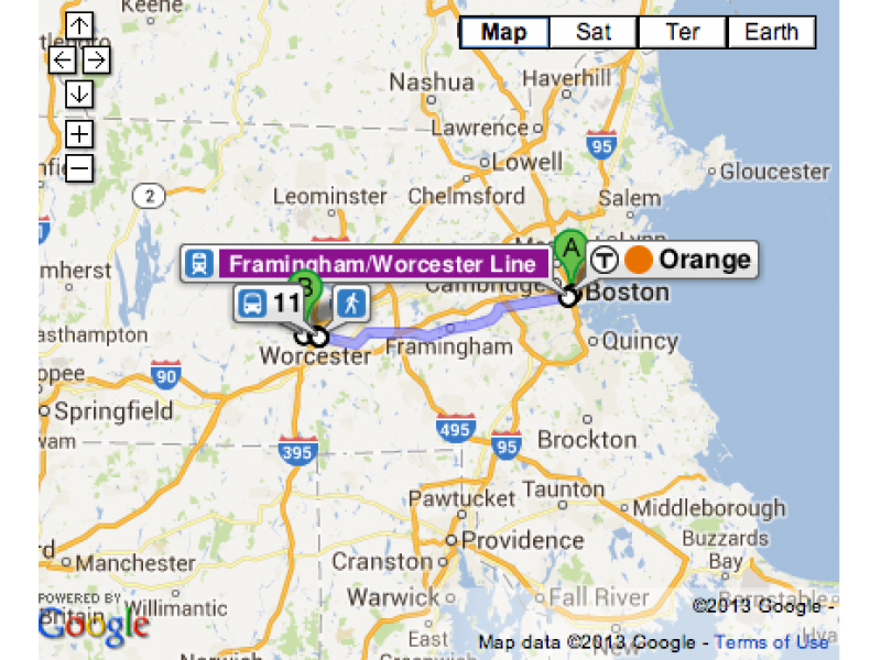 MA Public Transit Routes, Schedules Now on Google Maps | Framingham ...