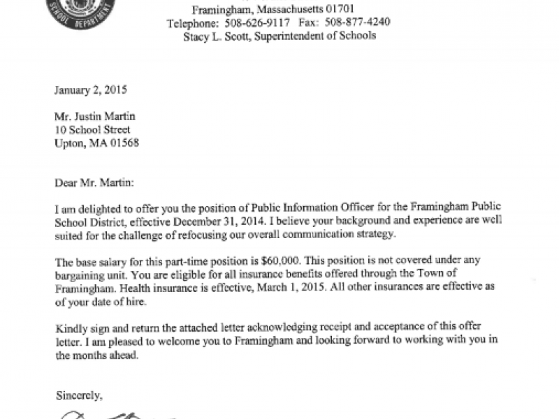 Communications Director Paid \'Modest Amount\' Says Framingham ...