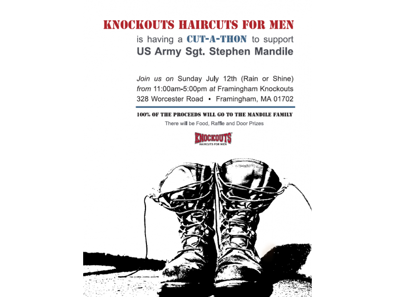Haircuts To Benefit Wounded Veteran Stephen Mandile Framingham Ma