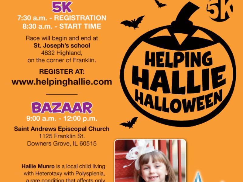 helping hallie halloween 5k bazaar