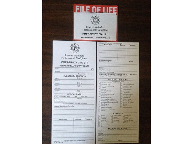 Waterford Residents: Have You Filled Out a File of Life Form Yet ...