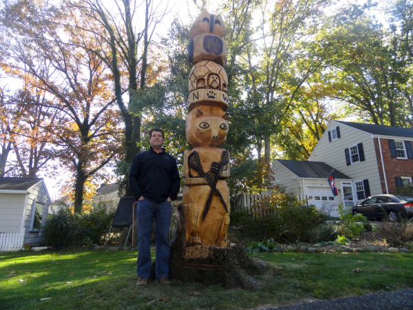 Foot totem pole graces edgewood road chatham nj patch