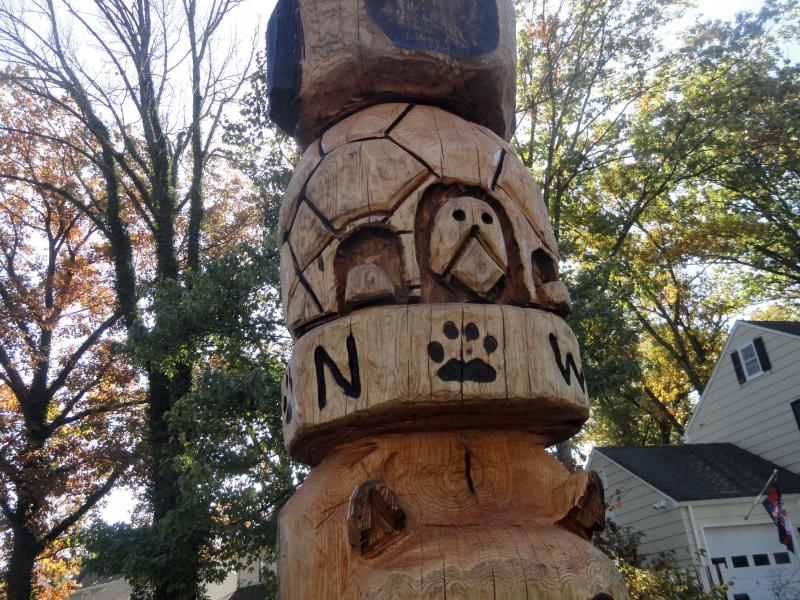 Foot totem pole graces edgewood road chatham nj patch