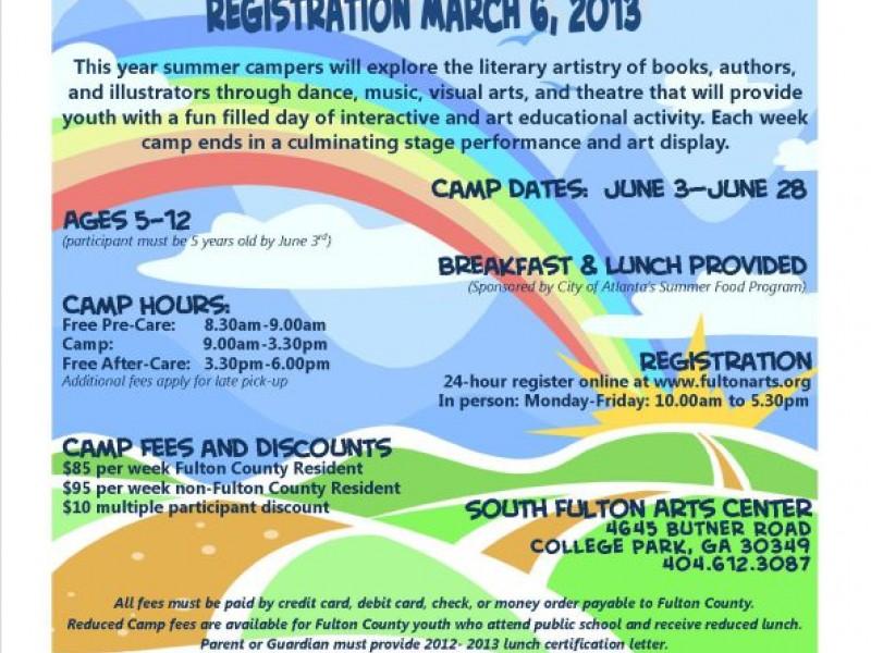 South Fulton Arts Center Summer Youth Arts Camp Registration