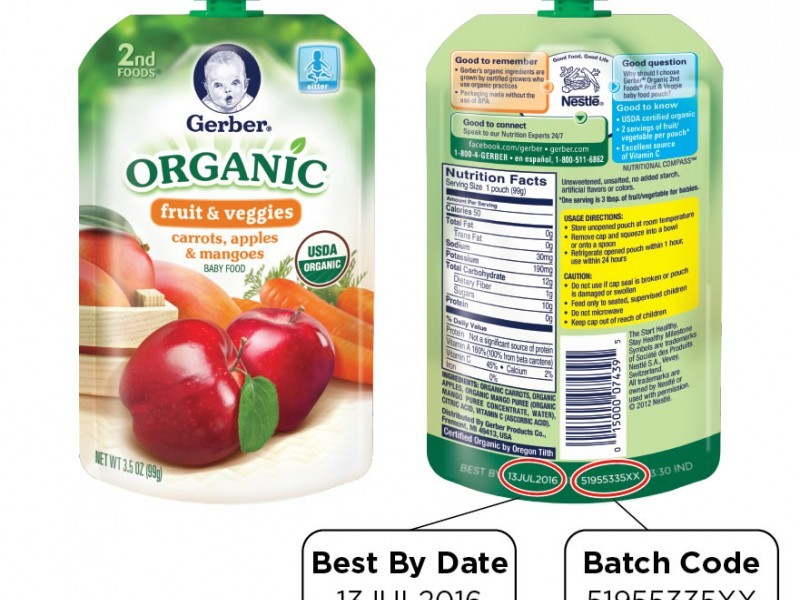 Organic Baby Food Pouches Recall