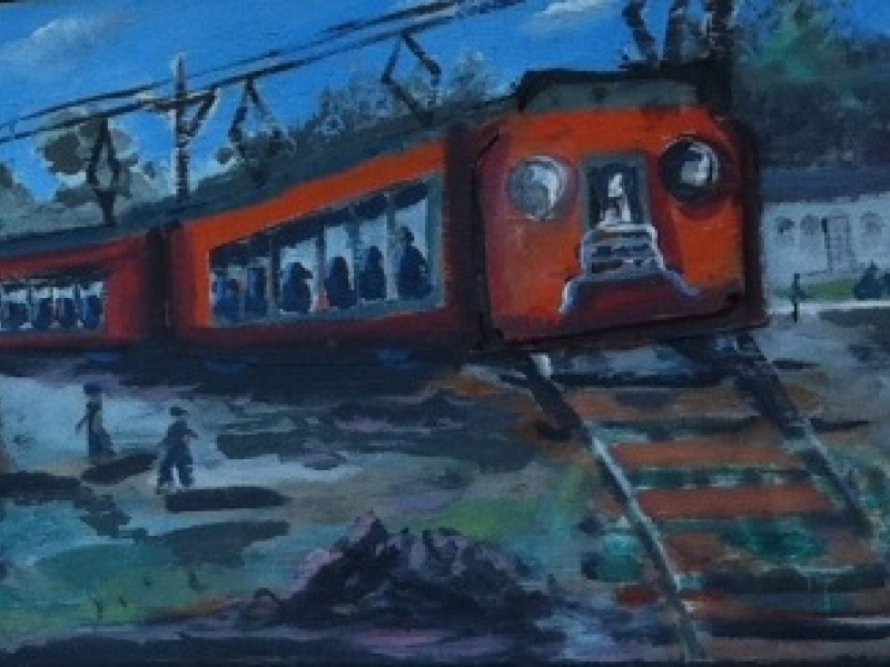 Image result for mystery on the train in painting