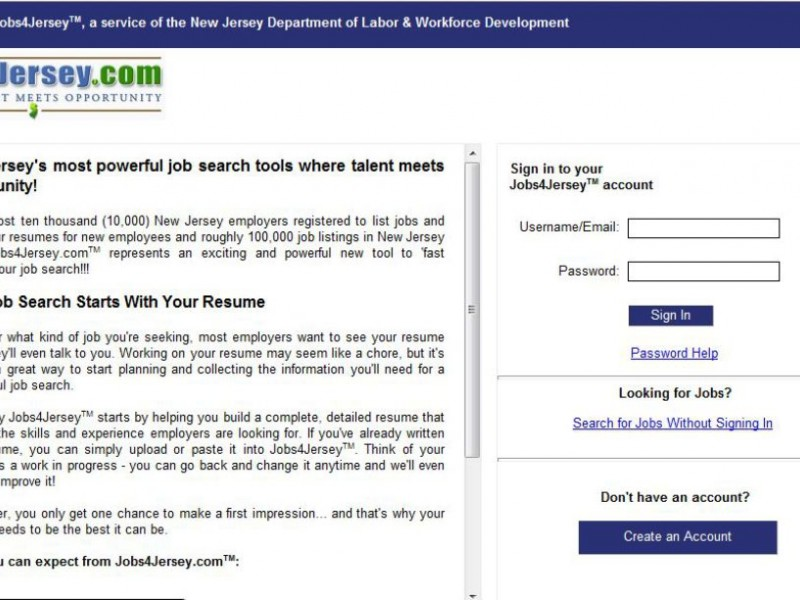 State Rolls Out Free Internet Job Site | Fair Lawn, NJ Patch