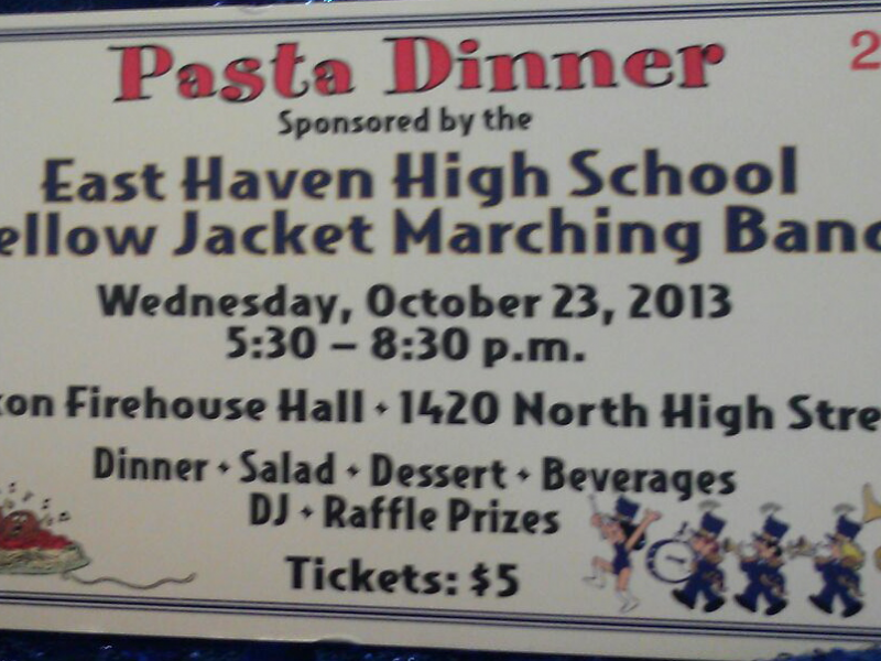 ehhs marching band to hold fundraiser dinner east haven ct patch