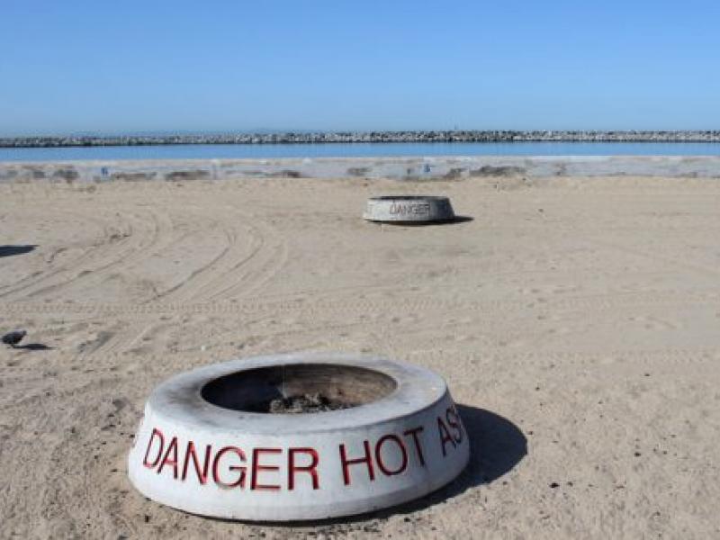 Board Extinguishes Bonfires At Doheny Capo Beaches