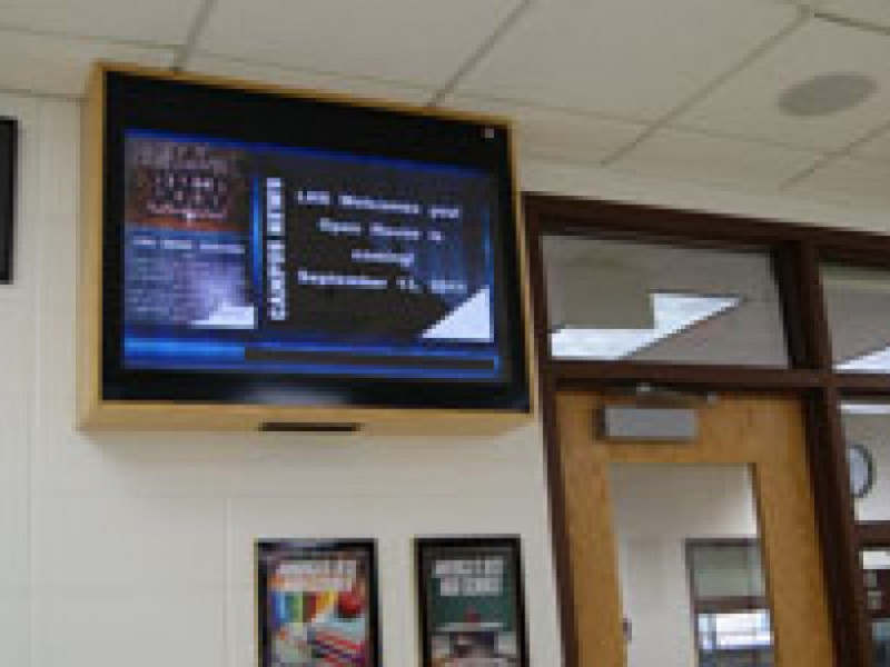 libertyville high school uses tv monitors to make