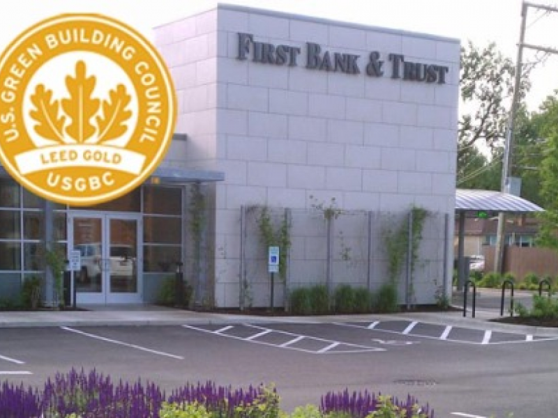 Skokies First Bank Trust Earns Gold Leed Certification Skokie