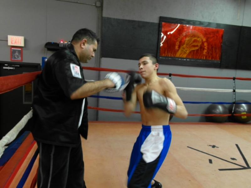 Boxing teens