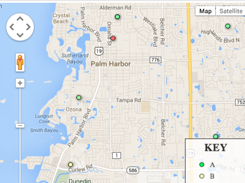 Map: How 2013 Grades Compare Across Pinellas County, Tampa ... Pinellas County Map on