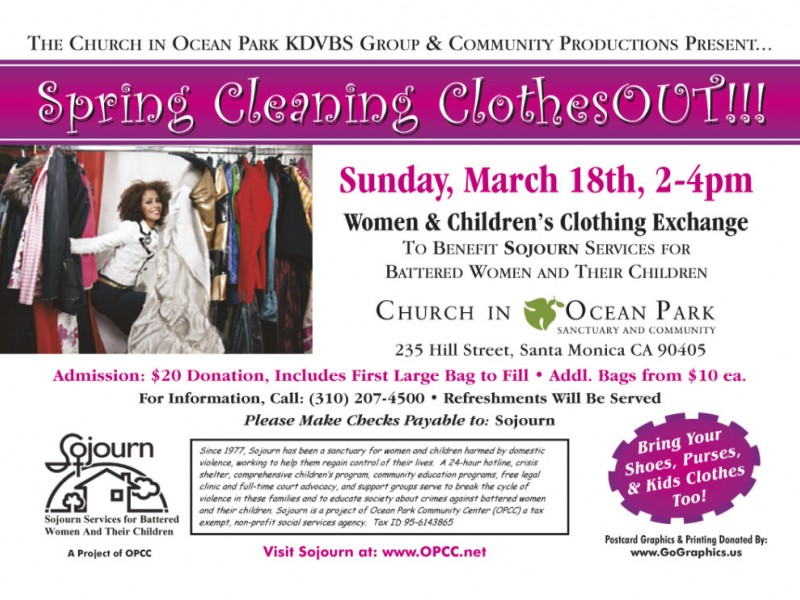 Spring Cleaning Clothesout Venice Ca Patch