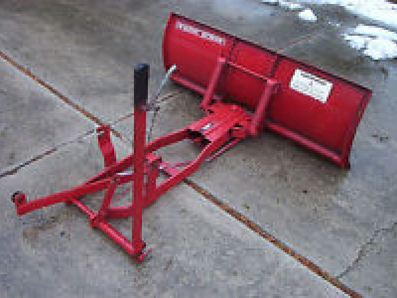 Lawn Tractor Snow Plow Attachment : Wheel horse toro garden tractor quot snow plow assembly