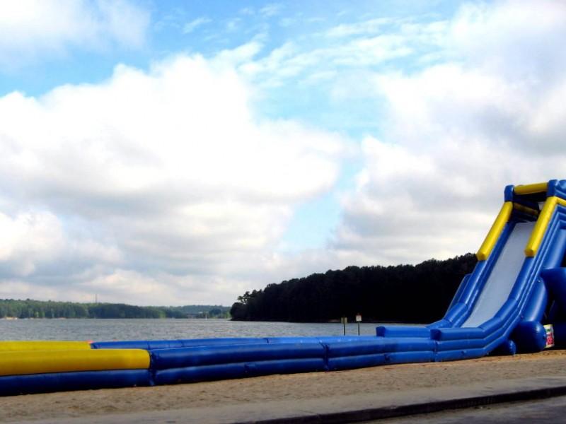 Weekender Acworth Beach Opening Day Inflatable Water Slide Ga Patch
