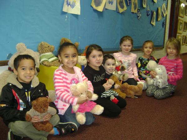 Local Nursery School Collect Teddy Bears