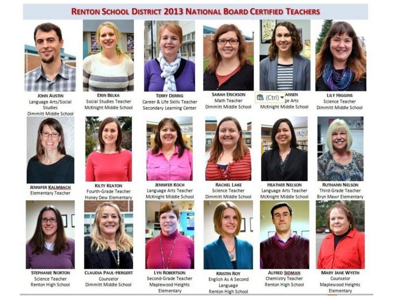 18 Renton Teachers Earn National Board Certification   Renton, WA Patch