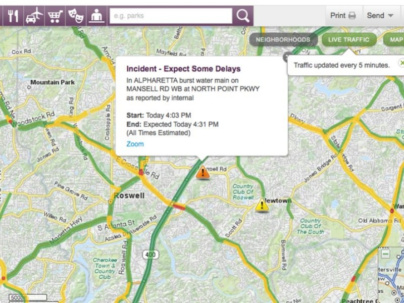 Check Here for a Live Traffic Update Alpharetta GA Patch