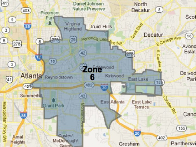 Zone 6 Map APD's Zone 6 Commander On Crime | East Atlanta, GA Patch Zone 6 Map
