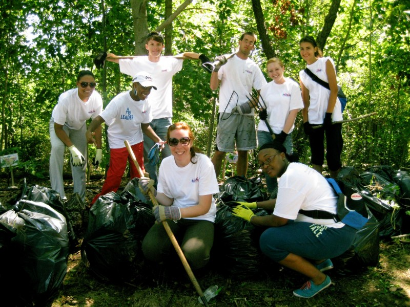 Adelphi Freshmen Help Beautify Village Bird Sanctuary | Garden City ...