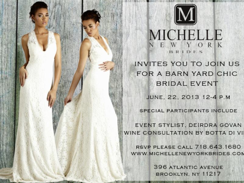 Michelle New York Brides Presents A Barn Yard Chic Bridal Event