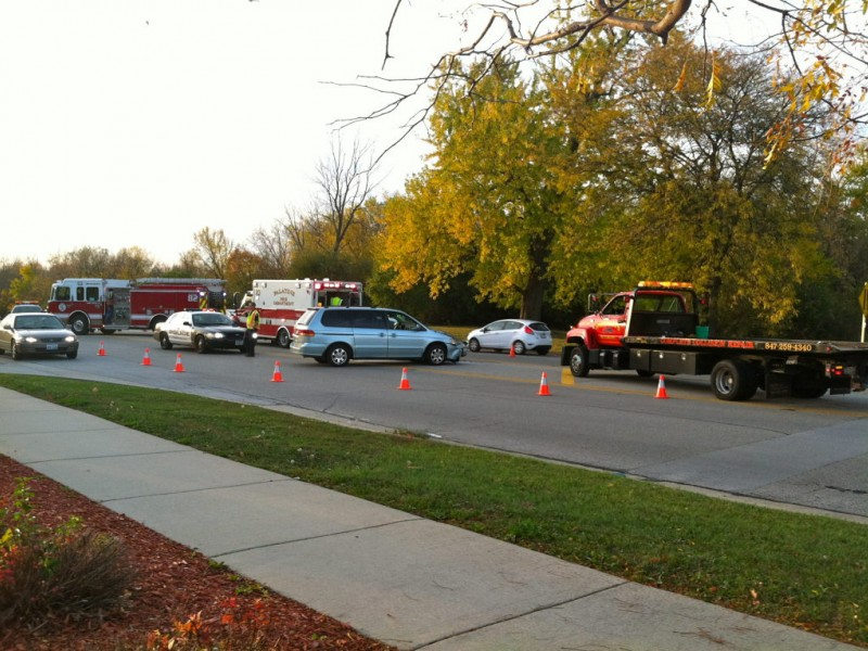 Two Vehicle Accident Shuts Down Dundee Road Palatine Il