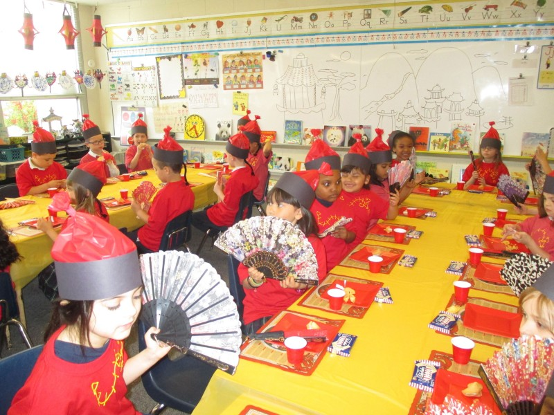 St Germaine School Kindergarten Learns About Chinese