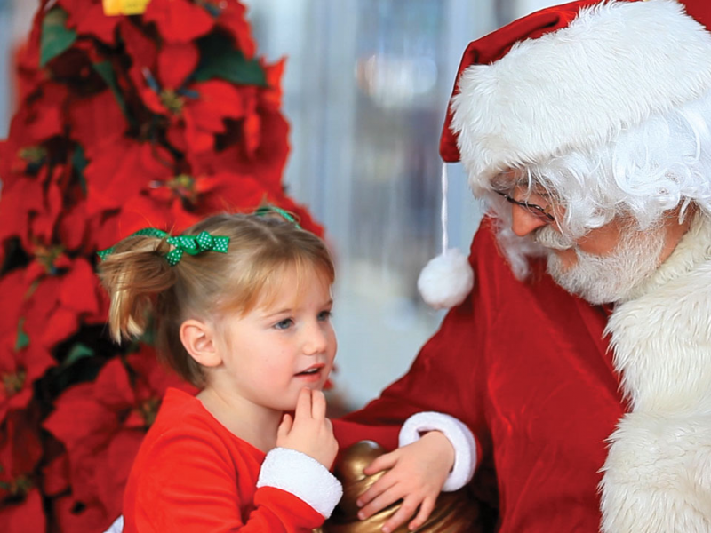 Pictures With Santa At Dees Nursery Florist