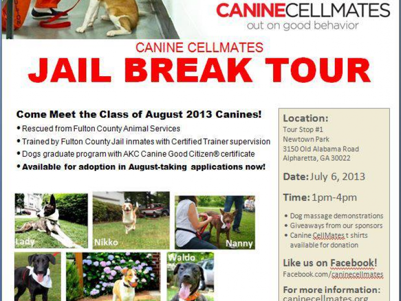 Canine Cellmates Coming to Newtown Park   Alpharetta, GA Patch
