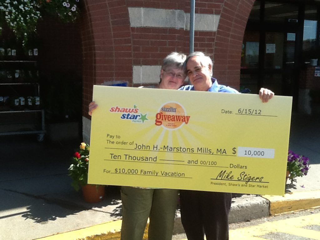 Mills Man Wins $10,000 Family Vacation Package from Shaws