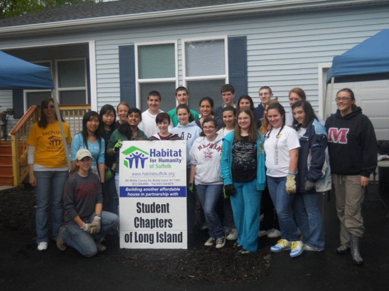 Mepham Students Participate In 39 Habitat For Humanity 39 Bellmore Ny Patch