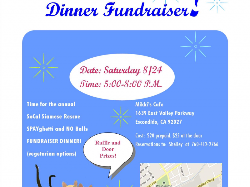 Southern California Siamese Rescue Annual SPAY/NUETER fundraiser