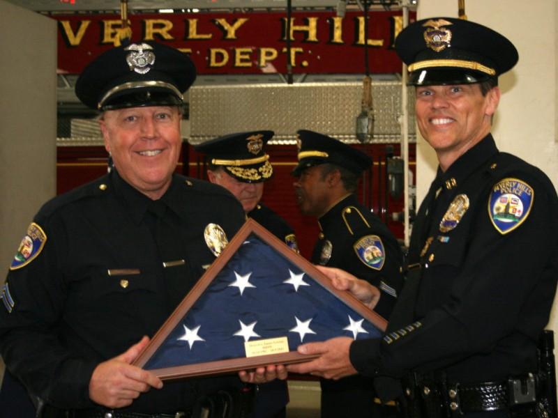 Officers Bid The Bhpd Farewell Beverly Hills Ca Patch