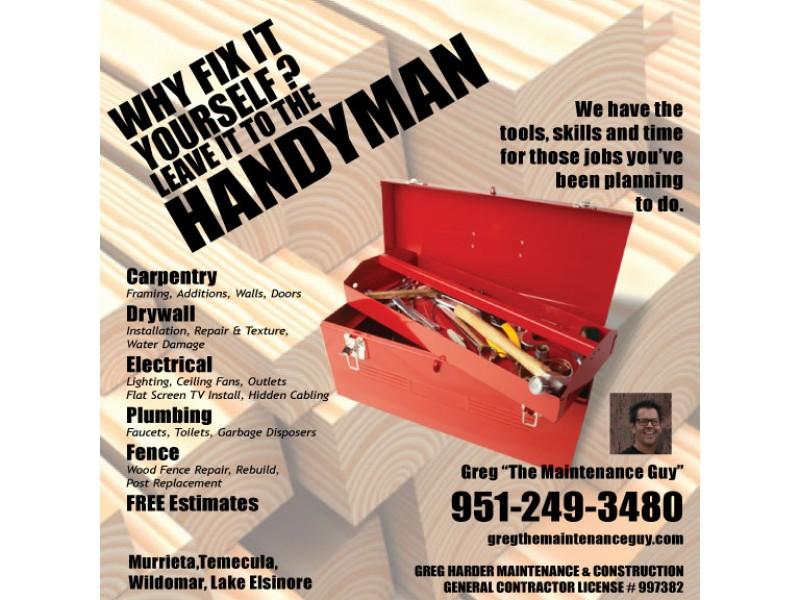 General Contractor Handyman Greg Quot The Maintenance Guy