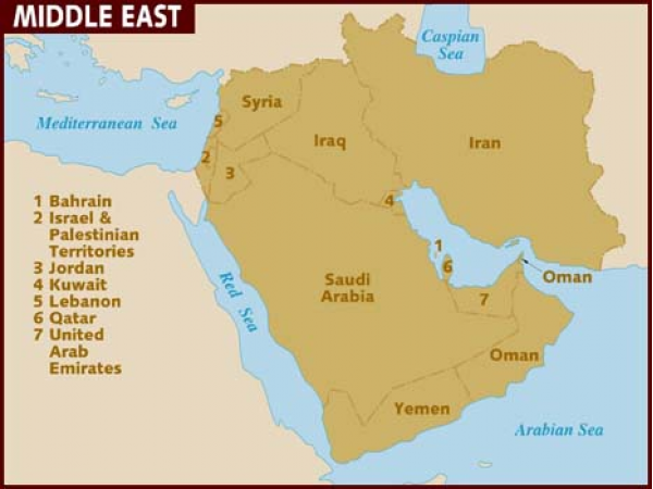 US Foreign Policy In The Middle East Obamas Uphill Battle - Us battles on map middle east