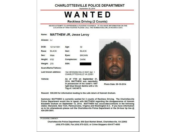 Police Issue Wanted Poster for Person of Interest in Hannah – Wanted Person Poster