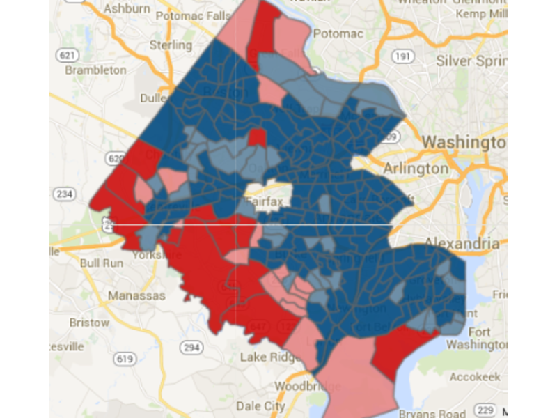 Of Fairfax County\'s 239 Precincts, 29 Went Red in 2014 Senate Vote ...