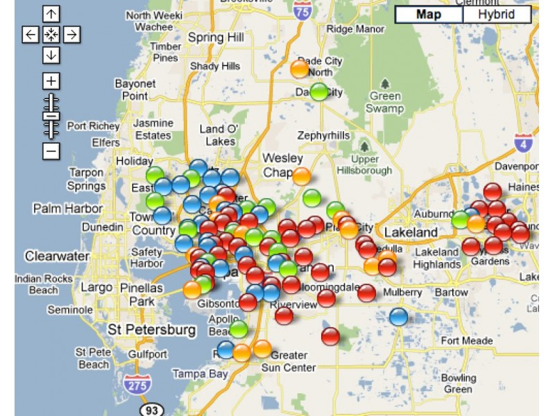 TECO Links to Online Power Outage Map, Reports Mid Day Some 60,000