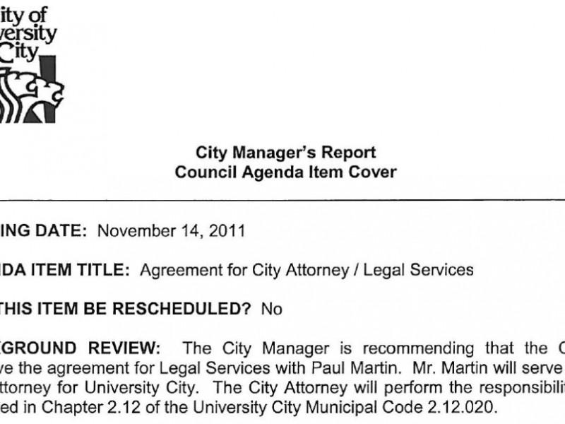 U City To Replace John Mulligan As City Attorney University City