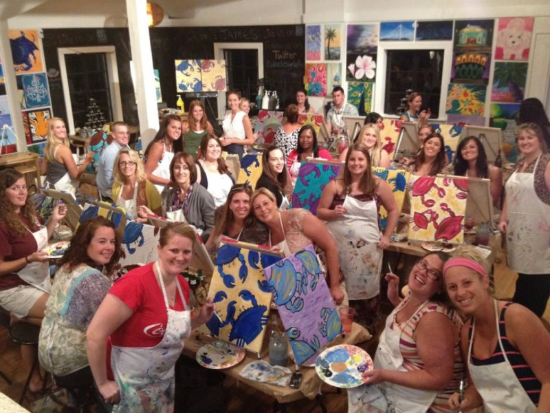 Wine and designs expands into summerville summerville for Wine and design west ashley