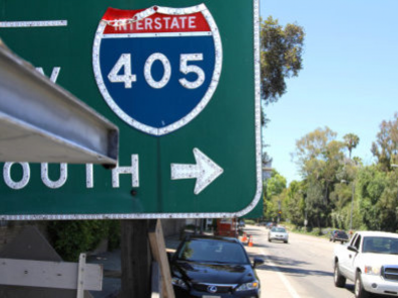 Northbound 405 Freeway Night Closure Between Getty and