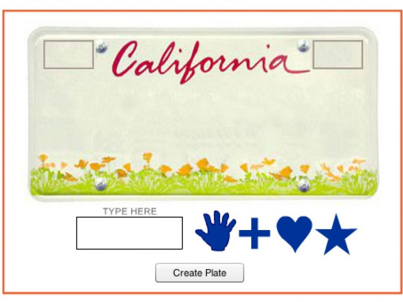 Handprint License Plate Money For Child Abuse Mismanaged Mission