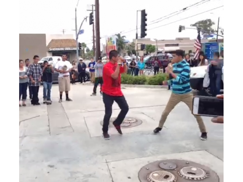 Caught On Tape Students Fight At Chevron Station Near Gahr High Cerritos Ca Patch