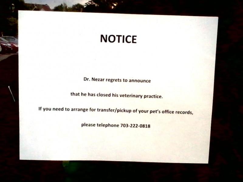 Facing Eviction Veterinarian Posts Notice To Help Ex