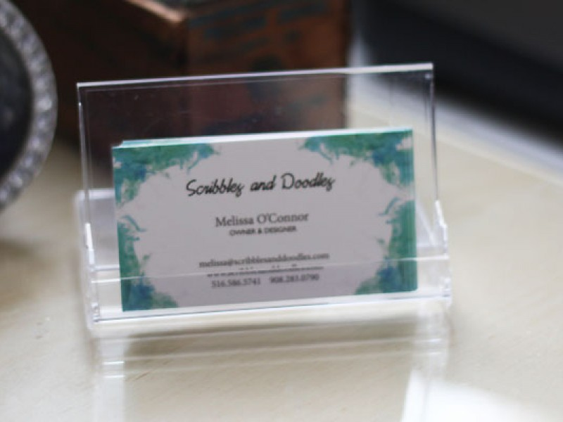 Diy business card holder and desk calendar rockville centre ny patch reheart Image collections