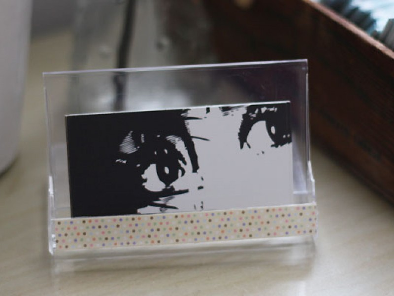 Diy Business Card Holder And Desk Calendar 0