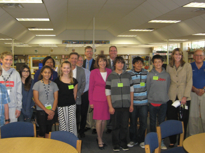 parkway middle school hosts visit from representative susan davis la mesa ca patch