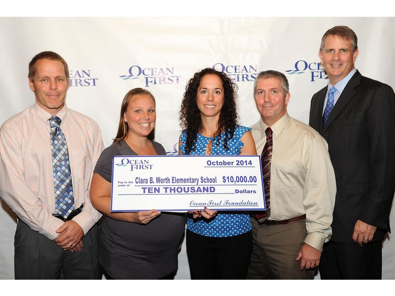 OceanFirst Bank Awards $10,000 Grant To Clara B. Worth School In Bayville